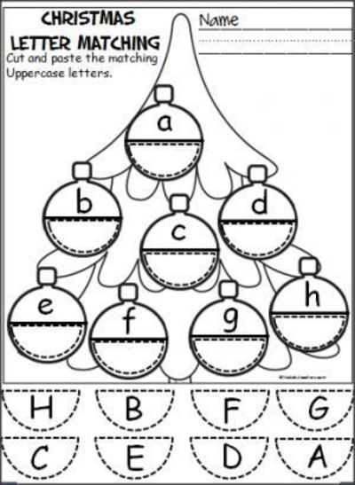 free christmas ornament alphabet activity students cut and preschool items juxtapost. Black Bedroom Furniture Sets. Home Design Ideas