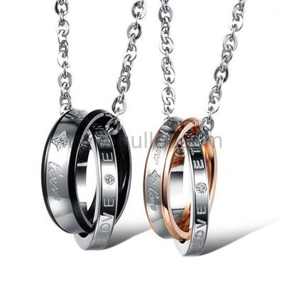 Gullei.com Forever Love Matching Necklaces for Couples Set of 2