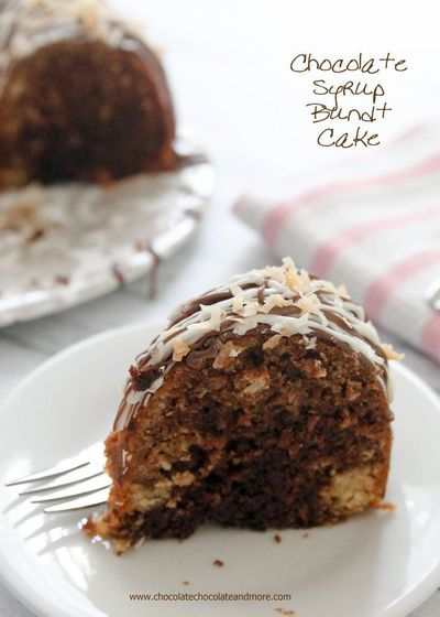 Chocolate Syrup Bundt Cake-using chocolate syrup added into the batter makes for a rich deep chocolate flavor!