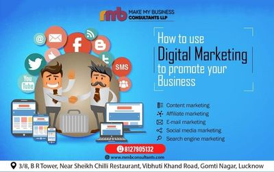 MMB CONSULTANTS is the best digital marketing company in Lucknow, Our extensive range of digital marketing services includes social media marketing, social media optimization we are focusing on achieving your business goals for you and engage the target a...