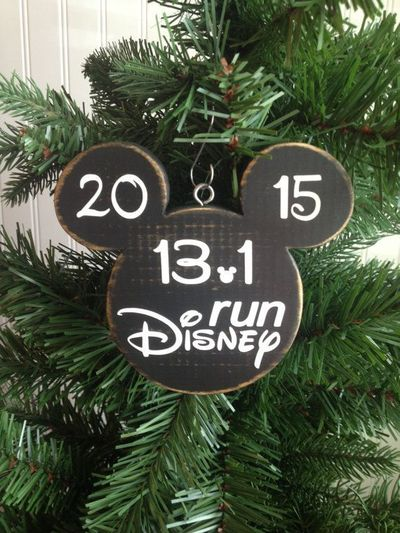Run Disney Marathon Christmas Ornament Distressed Disney Pri