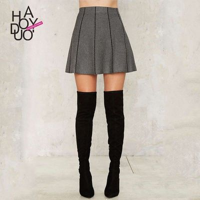 School Style Must-have Vogue Contrast Color Slimming High Waisted Summer Skirt - Bonny YZOZO Boutique Store