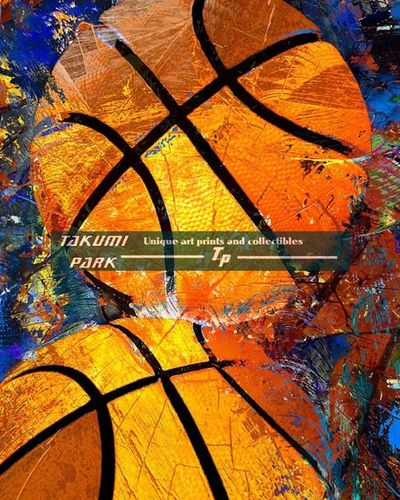 This is a colorful basketball artwork print. The basketball art print comes in different sizes. #basketballart #basketballartwork #boysroomart #homedecor #urbanart
