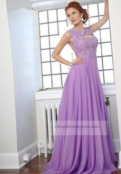 Sexy Long Lilac Lace Top Prom Dresses 2014 / long purple prom ...
