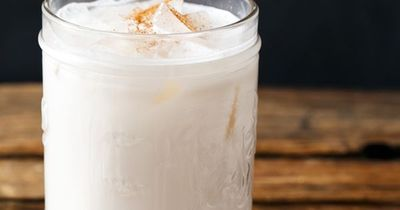 Make your own horchata, a creamy, dreamy, dairy free refreshment (made with rice, almonds, and cinnamon).
