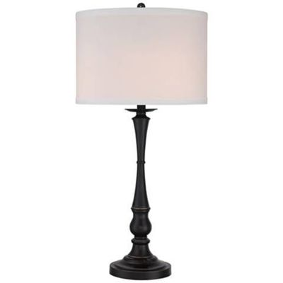 A classic candlestick silhouette comes alive in the deep Palladian bronze finish of this versatile three-light table lamp. Candlestick table lamp. Palladian bronze finish. Style # 6T376 at Lamps Plus.