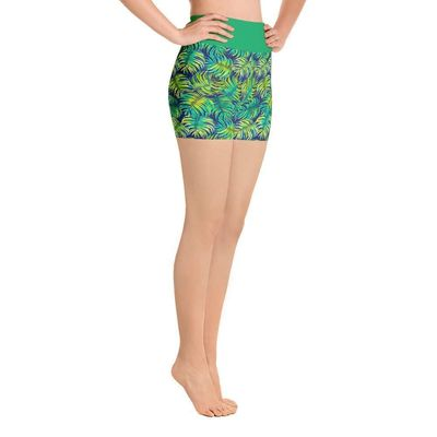 "Exclusively from And Above All YOGA --- ""Ferns"" Yoga Shorts for just $39.00 with FREE SHIPPING"