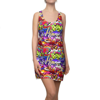 Graffiti HipHop Racerback Dress Moisture Wicking Strong Elastic Fabric Vibrant Best Quality Pigment Inks Sizes XS - 2XL Music $21.99 https://www.etsy.com/shop/LAFabriKDesigns?ref=ss profile