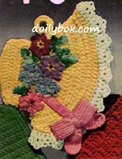 Free Crochet Patterns For Easter Bonnets : Free Vintage Crochet - Easter Bonnet Potholder Pattern ...