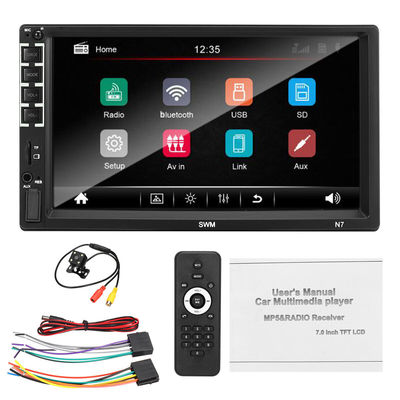 SWM N7 Car MP5 Multimedia Player Radio LCD Capacitive Touch Screen FM AUX USB TF Card Remote Control with Camera