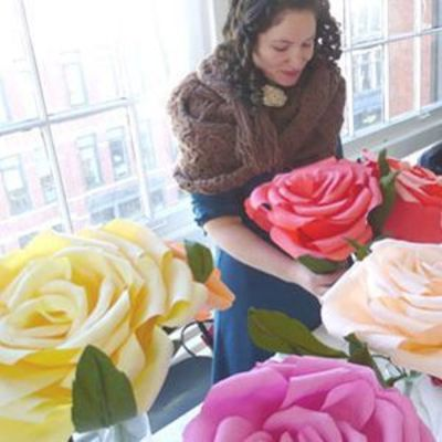 paper flower tutorial, giant paper flowers and paper flowers.
