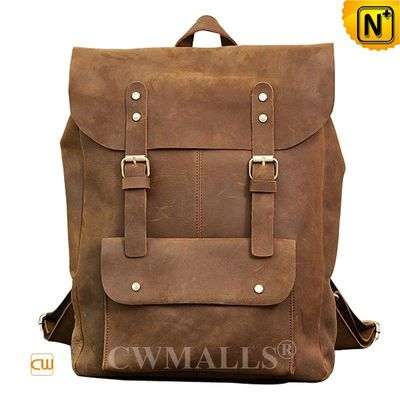 Father's Day Gifts | Men Patented Leather Travel Backpack CW908023 |   CWMALLS.COM