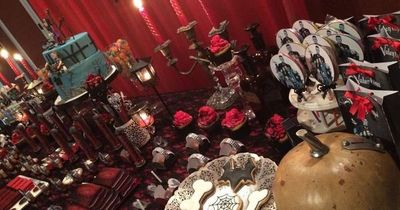 Addams Family Halloween Party.Incredible Dessert Table At An Addams Family Birthday Party