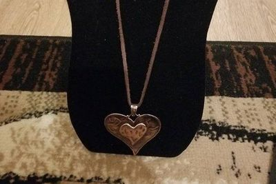 Hobo Chic Copper Heart Necklace $5.00
