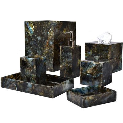 Taj Labradorite Bath Accessories by Mike + Ally $500.00