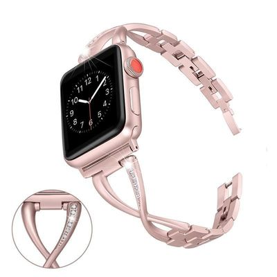 38mm/42mm/40mm 44mm diamond Stainless Steel Bracelet for iwatch series 4 3 2 1 $52.99