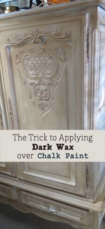 Chalk paint is all the rage with it's matte finish that has a french country feel. Add dark wax over�€� Read more »