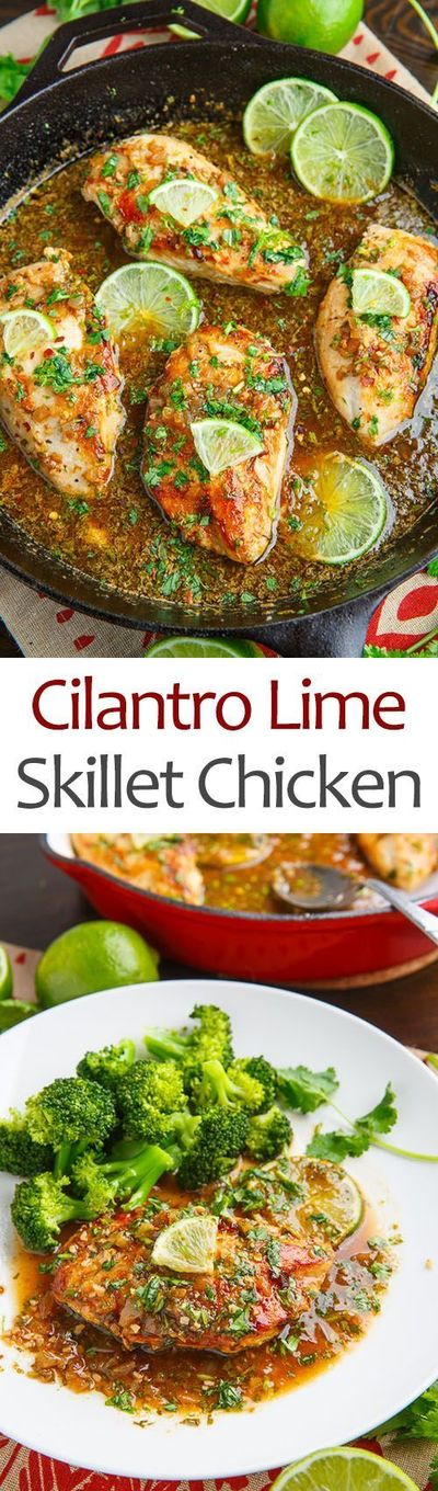 Tasty cilantro lime skillet chicken in less than 20 minutes!