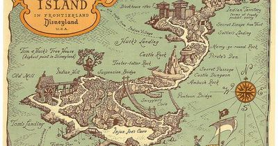 Explorer S Map Of Tom Sawyer Island