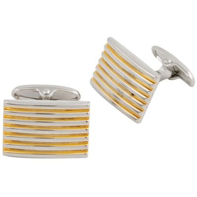 Gold Plated Rectangular Dual Tone Cufflinks �'�799.00