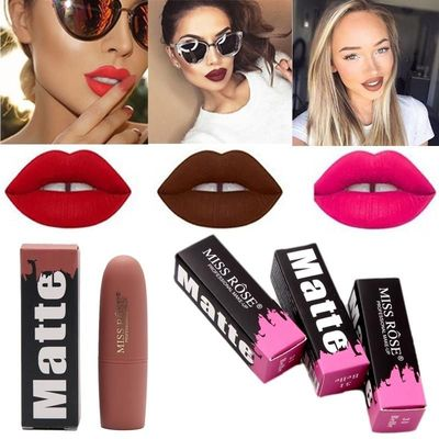Miss Rose Brand Beauty Matte Moisturizing Lipstick Makeup Lipsticks Lip Stick Waterproof Lipgloss Mate Lipsticks Cosmetic $2.00