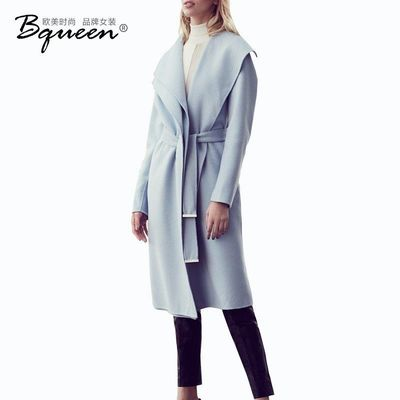 2017 fashion winter clothing in New Street slim lace long sleeve solid color long wool coat - Bonny YZOZO Boutique Store