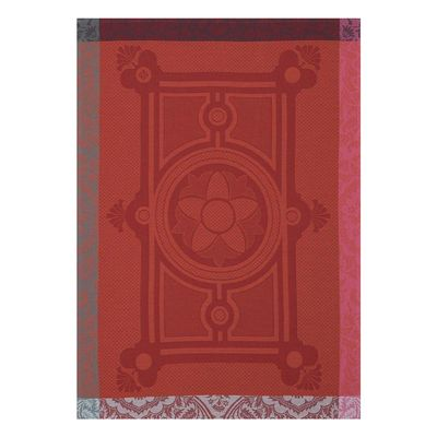 Jardin Francais Orange Tea Towel Set of 4 by Le Jacquard Francais $96.00