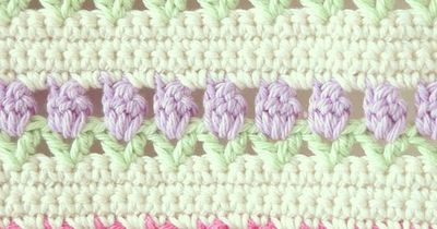 ByHaafner, crochet, tulips, pastel and white