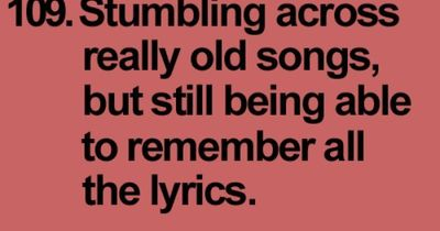 I can't remember the name of the person I met yesterday, but I can remember all the words to a song that I haven't heard in 20 years!