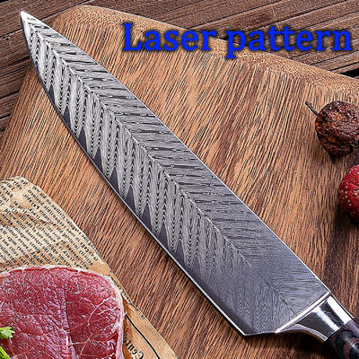 Chef Knife 8 inch Professional Kitchen Knives Stainless Steel Cooking Tools Pakka Wood Handle $39.80