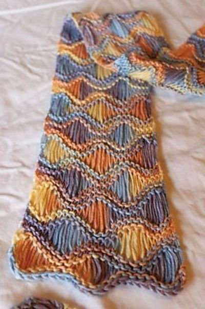 Best Knitting Stitches For Multicolor Yarn : Scarf knitting pattern (free) on Ravelry -- nice com... / crochet ideas and t...