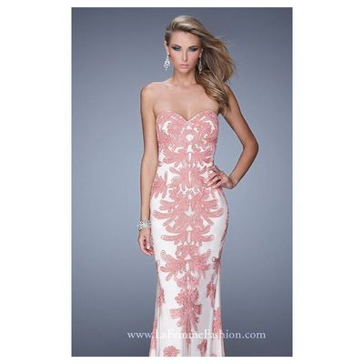 Strapless Lace Gown by Gigi Designs by La Femme 21386 - Bonny Evening Dresses Online