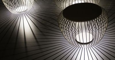 #LED STEEL FLOOR #LAMP MERIDIANO BY