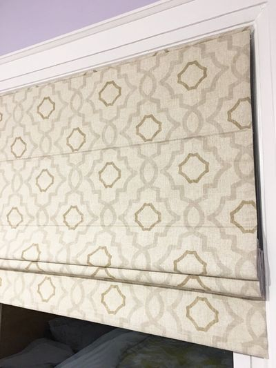 "Flat Roman Shade ""Swain Plateau"" with chain mechanism, Cotton Roman Shade, Window Treatment, Custom Made $195.00"