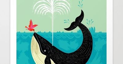 The bird and the whale art print by oliver lake society6 for Websites similar to society6