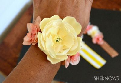 Give your mom a gift she'll love to wear everyday with this fun, bright spring-inspired DIY corsage, made with fake flowers so it'll last longer!