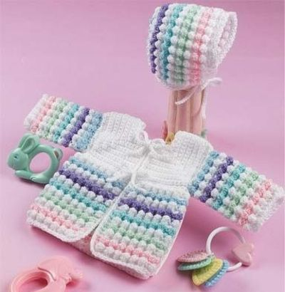 Bubbles Sweater n Bonnet http://thumpysquietplace.yuku.com/topic/132/Tiny-Bubbles-Sweater-Bonnet#.UCSXK51lR5F