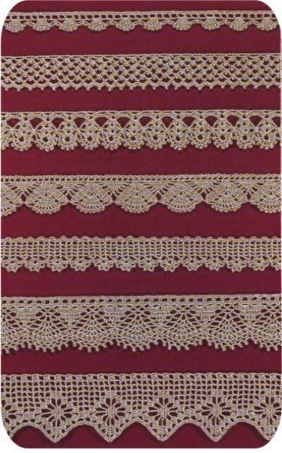 Free Knitting Patterns For Borders : Free Easy Crochet Lace Edging CROCHETED LACE EDGING PATTER... / crochet ide...