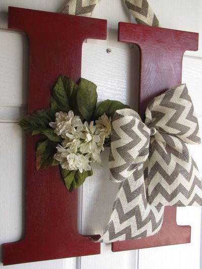 Decorative letter decor by madewithloveforubyme on etsy for Decoration 11 letters
