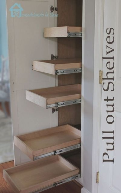 Best 25+ Pull Out Shelves Ideas On Pinterest | Deep Pantry with regard to Diy Pull Out Drawers For Kitchen Cabinets
