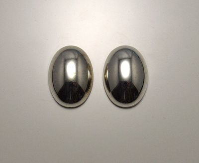 18 x 25 mm Silver or Gold Oval Magnetic Clip or Pierced Earrings $30.00 Designed by LauraWilson.com