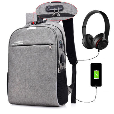 IPRee® 18L Backpack 16inch Laptop Bag USB Charging Headphone Jack Shoulder Bag Anti-theft Luminous School Bag