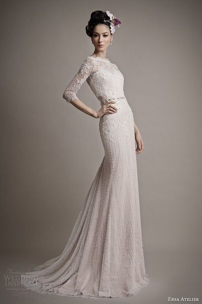 Ersa Atelier Wedding Dress 2015 Melisse Gown With Illusion N