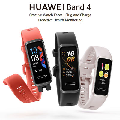 Original Huawei Band 4 Full Touch Screen Wristband Heart Rate SPO2 Monitor Multiple Language USB Charging Smart Watch Chinese Version