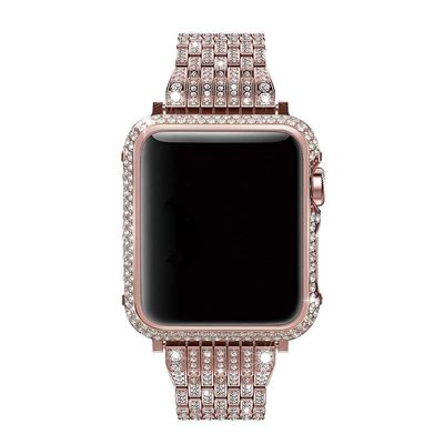 Luxury Diamond Case and Stainless Steel strap For Apple Watch Series 4 3 2 1 38mm 42mm 40mm 44mm for women $78.99