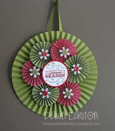 Wishing You a Joyous Season Wreath by TreasureOiler - Cards and Paper Crafts at Splitcoaststampers