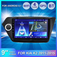 9 Inch For Android 8.1 Car Multimedia Radio Stereo Quad Core 1GB+16GB 2DIN GPS Navigation WIFI bluetooth For Kia K2 2011-2015