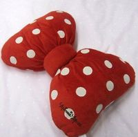 Would make a cute Tierra for a Minnie Mouse bed Amazon.com: MINNIE MOUSE RED BOW FILLED CUSHION OFFICIAL LICENSED WALT DISNEY 33CM X 40CM: Everything Else
