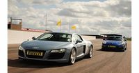 "Porsche vs Audi R8 Driving Experience at Thruxton You can compare two truly special supercars with this driving experience at Thruxton '�'��"" the fastest circuit in the UK! You'""'ll start off behind the wheel of the Porsche C..."