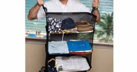Great for travel... when you arrive at your hotel, simply pull out the shelves and hang up. No need to unpack!